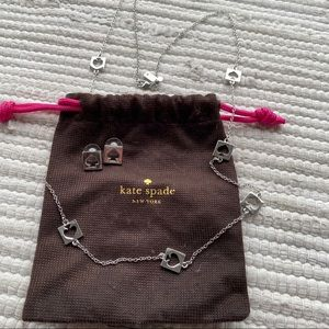 Kate Spade Set Long Necklace & Earrings